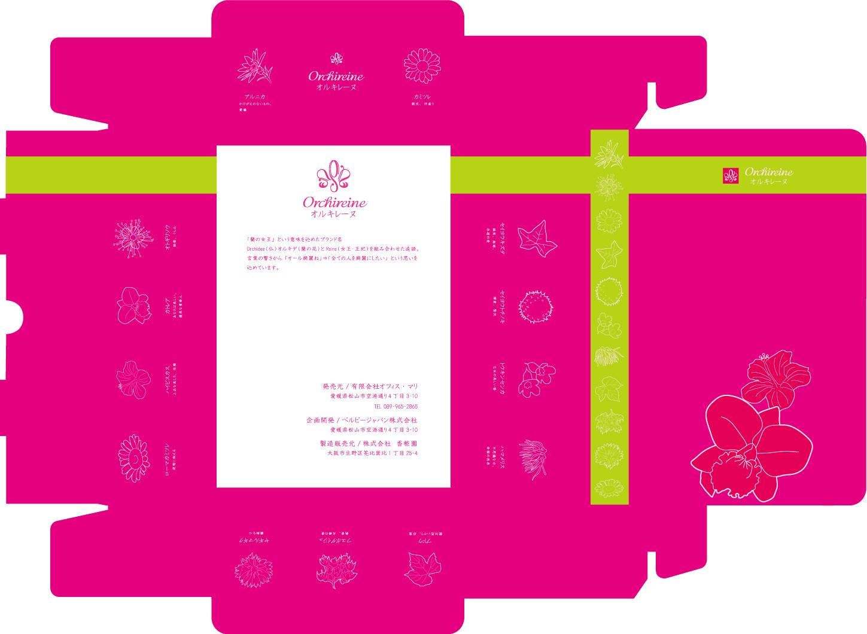 美容商品化粧箱デザイン