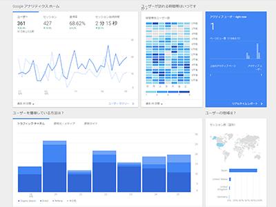 Googleアナリティクスのアクセス解析イメージ