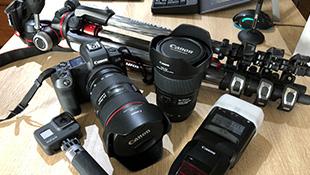 プロカメラ機材による写真撮影